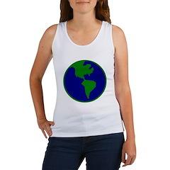 Blue-Green Earth Women's Tank Top