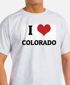 I Love Colorado Ash Grey T-Shirt