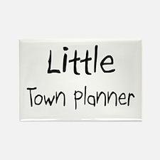 Little Town Planner Rectangle Magnet