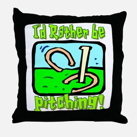 Horseshoe Pitching Throw Pillow