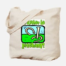 Horseshoe Pitching Tote Bag