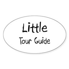 Little Tour Guide Oval Sticker