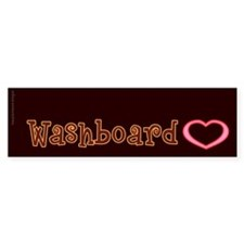 Washboard Heart Bumper Bumper Sticker