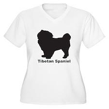 TIBETAN SPANIEL Womes Plus-Size V-Neck T-Shirt