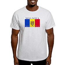 Moldova Moldovan Flag Ash Grey T-Shirt
