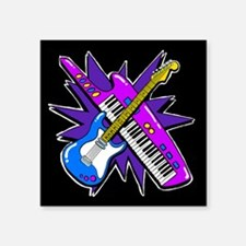 Keytar Geetar Black Sticker