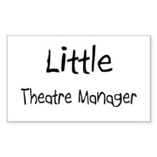 Little Theatre Manager Rectangle Sticker