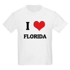 I Love Florida Kids T-Shirt