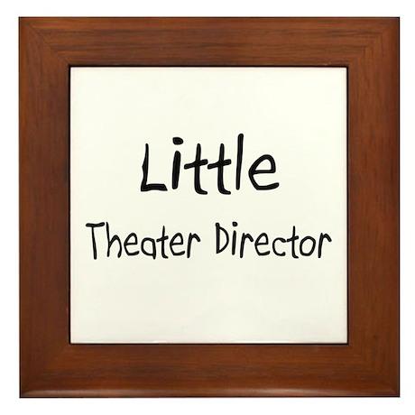 Little Theater Director Framed Tile