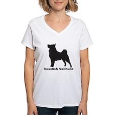 SWEDISH VALLHUND Womens V-Neck T-Shirt