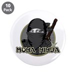 "Mona Lisa Ninja 3.5"" Button (10 pack)"
