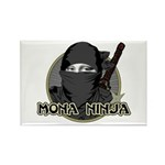 Mona Lisa Ninja Rectangle Magnet (100 pack)