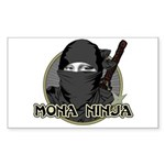 Mona Lisa Ninja Rectangle Sticker