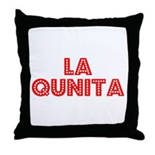 Retro La Quinta (Red) Throw Pillow