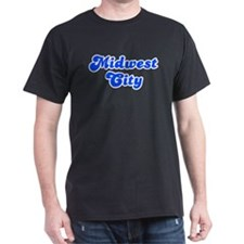 Retro Midwest City (Blue) T-Shirt