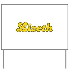 Retro Lizeth (Gold) Yard Sign