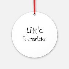 Little Telemarketer Ornament (Round)