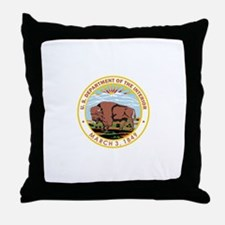 DEPARTMENT-OF-THE-INTERIOR- Throw Pillow