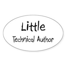 Little Technical Author Oval Sticker
