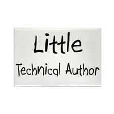 Little Technical Author Rectangle Magnet