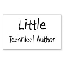 Little Technical Author Rectangle Sticker