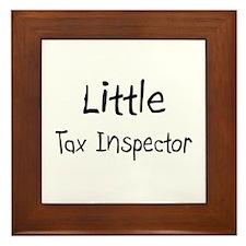Little Tax Inspector Framed Tile