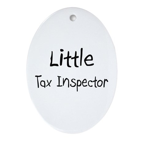 Little Tax Inspector Oval Ornament
