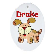 Drake Puppy Oval Ornament
