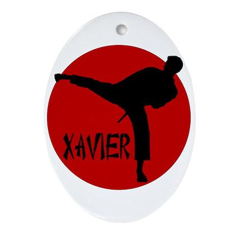 Xavier Karate Oval Ornament