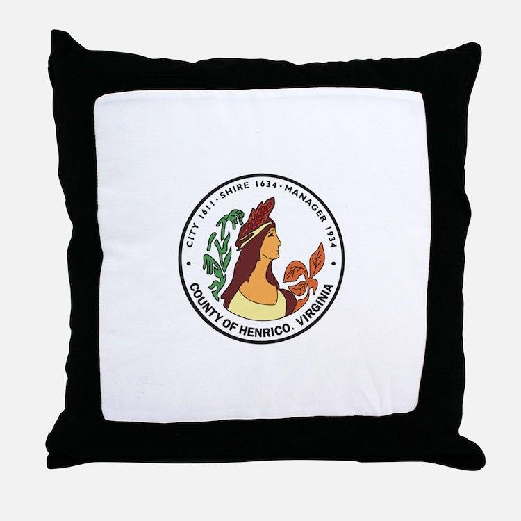 HENRICO-COUNTY-SEAL Throw Pillow