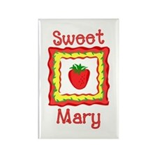 Sweet Mary Rectangle Magnet