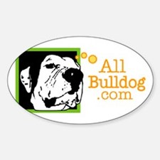 All Bull Dog Logo Oval Decal