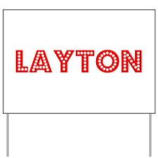 Retro Layton (Red) Yard Sign
