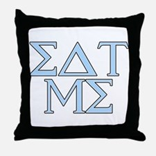 GREEK Letters Throw Pillow