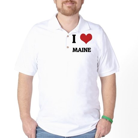 I Love Maine Golf Shirt
