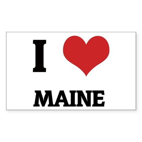 I Love Maine Rectangle Sticker
