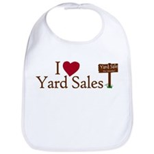 I Love Yard Sales Bib