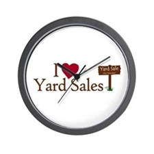 I Love Yard Sales Wall Clock