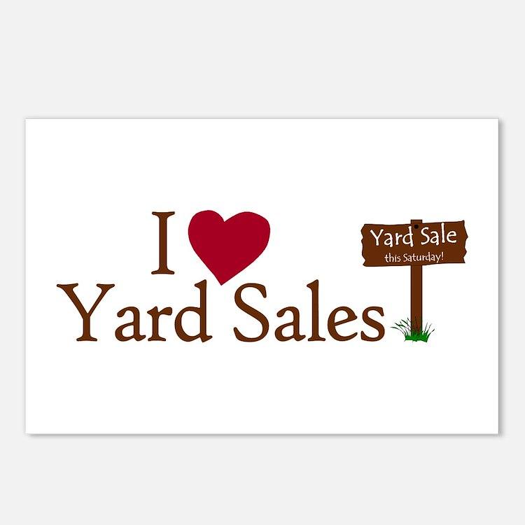 I Love Yard Sales Postcards (Package of 8)
