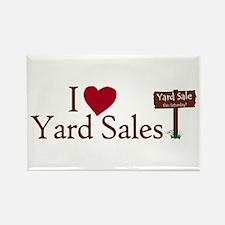 I Love Yard Sales Rectangle Magnet