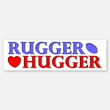 Rugger Hugger Bumper Bumper Bumper Sticker