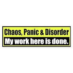 Chaos, Panic & Disorder, my work here... (yellow)
