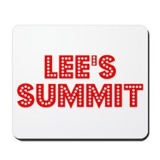 Retro Lee's Summit (Red) Mousepad