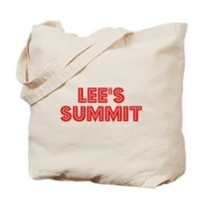 Retro Lee's Summit (Red) Tote Bag