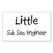 Little Sub Sea Engineer Rectangle Decal