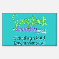 Scrapbook Mentality #44 Rectangle Decal