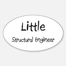 Little Structural Engineer Oval Decal