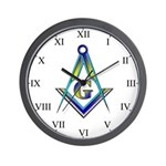 Masonic Roman Numeral Wall Clock