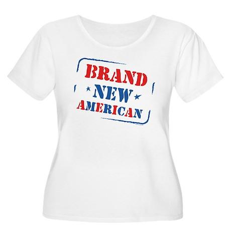 Brand New American Women's Plus Size Scoop Neck T-