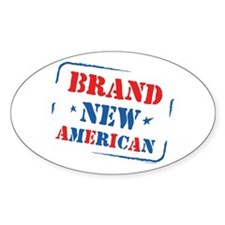 Brand New American Oval Decal